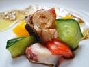 島ダコと野菜のマリネ味噌風味